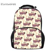 ELVISWORDS Dachshund Printed Backpacks For Teenage Boys Girls School Bag Casual Cute Pattern Rucksack Mochilas Back Pack