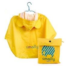 все цены на Boy Yellow Waterproof Rain Coat Poncho Raincoat Girls Kids Baby Rain Coat Children  Hat Rainwear Capa De Chuva Infantil 60YY255 онлайн
