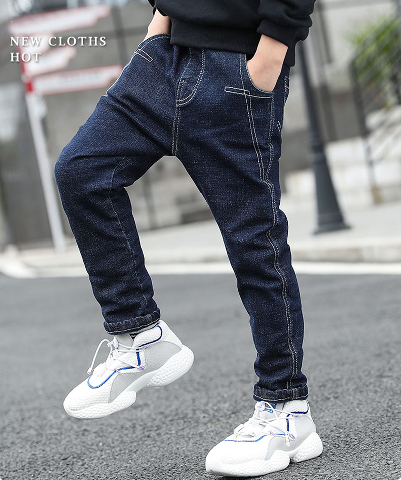 DIIMUU Children Boys Jeans Kids Slim fit Denim Pants Casual Holiday Long Trousers for Boy 5 13Years Toddler Clothes in Jeans from Mother Kids