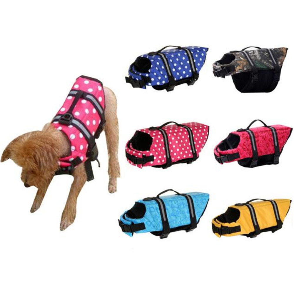 2017 XS/S/M/L/XL Pet Life Jacket Reflective Saver Vest Aquatic Safety Aid Swim Outward Adjustable Doggy with Rescue Handle 40%