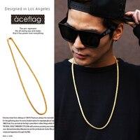 JFY Men Figaro Gold Necklace Hip Hop Style Gold Gun Plated Cuban Chain Necklaces Women Statement