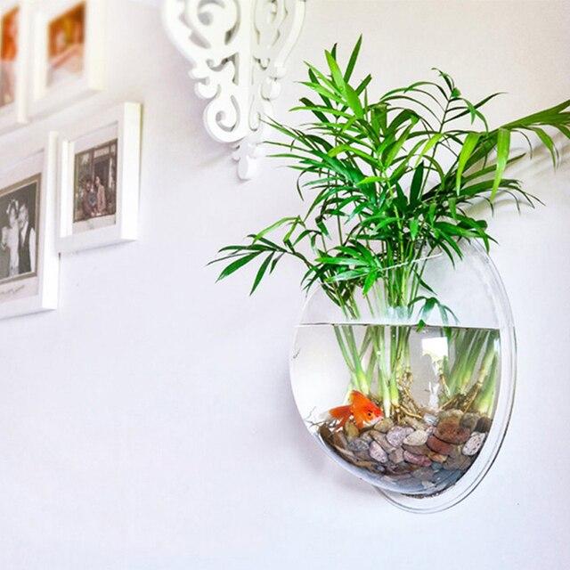 woondecoratie transparante planten bloempot muur opknoping. Black Bedroom Furniture Sets. Home Design Ideas