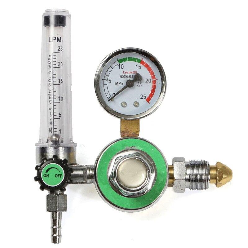 Wholesale Price 1Pc Metal AR Reducer Pressure Gas Flowmeter TIG Welding Argon Regulator For Argon Gas Pressure Gauge  цены