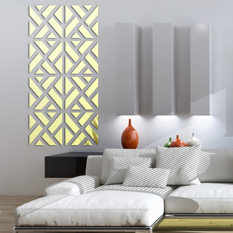 new wall stickers big 3d Decorative stickers living home modern acrylic large mirror pattern surface diy real in Wall Stickers from Home Garden