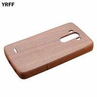 YRFF Per LG G3 caso di legno del fronte di Sorriso Tigre cranio carving modelli Legno caso della copertura posteriore per LG G3