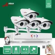 Anran 4ch ahd dvr 4 unids 1800tvl 1080n 720 p ir matriz impermeable Sistema CCTV Cámara Principal de Vigilancia de Seguridad de Vídeo Con 500 GB HDD