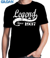 New Arrival Cool Shirt Designs O Neck Short Sleeve Mens Legend Since 1937 Idea 80 Years