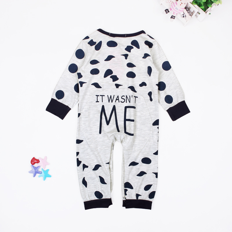 Baby Rompers Long Sleeve Cow Dots Unisex Baby Jumpsuits Romper Spring Autumn Baby One Piece Clothing Girl Boy Outfits Brand