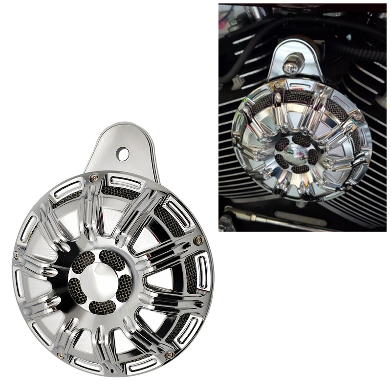 Chromed Motorcycle Accessories Horn Moto Slot Loud Speaker Moto For Harley 91-up Big Twin Cam For Harley Sportster XL 07-up image