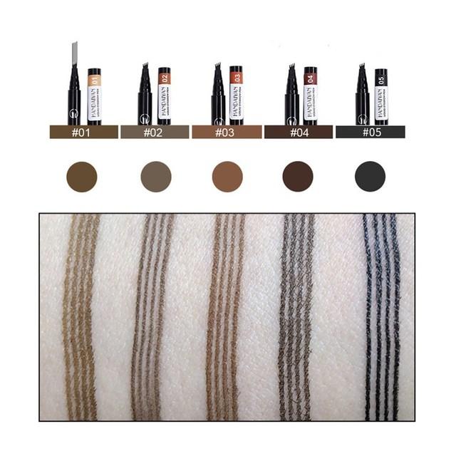 HANDAIYAN 1 PCS Waterproof Eyebrow Pencil 5 Colors Eyebrow Pen for Women Beauty Cosmetic Long Lasting Make Up Tool Maquiagem 4