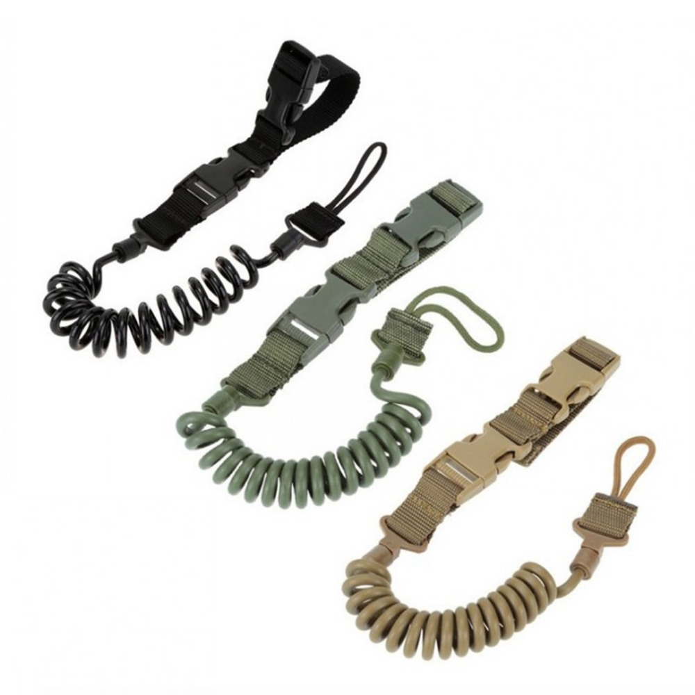 2018 Hot Airsoft Tactical Single Point Pistol Handgun Spring Lanyard Sling Quick Release Shooting Hunting Strap Army Combat Gear