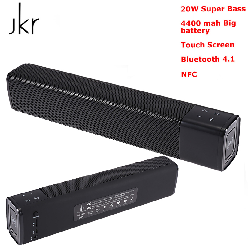 JKR Bluetooth Speaker 20W Super Bass Stereo Wireless Portable High Quality Subwoofer NFC AUX TF Card Sound Bar for TV Phone PC a3 20w wireless bluetooth column dual speaker subwoofer home theater loudspeaker 3d stereo super bass speakers for phone tv pc page 9