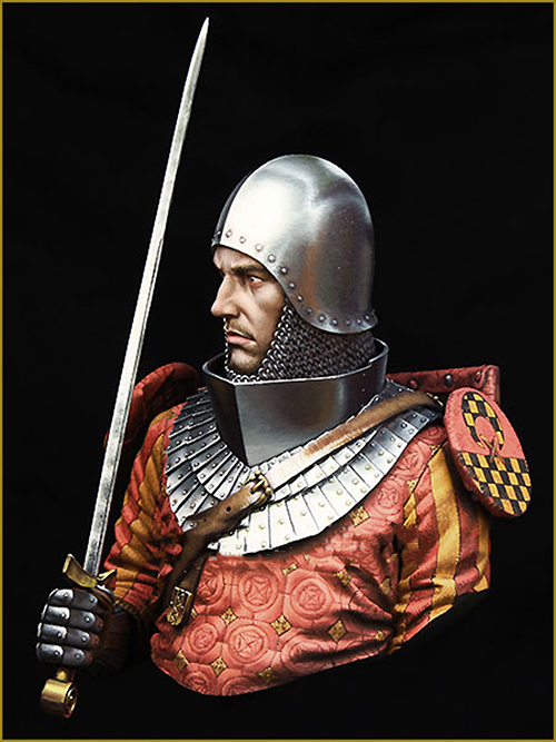Assembly Unpainted  Scale 1/10  MEDIEVAL KNIGHT Century Bust  Historical Toy Resin Model Miniature Kit