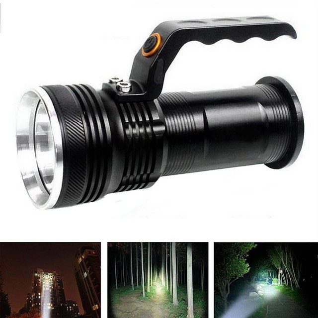 1 PC Black Color  XM-L 3000LM 3-mode Police Tactical LED Flashlight Torch Handheld Lamp VEM51 P50 Festival Gift