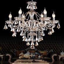 SHIXNIMAO LED Crystal Chandelier Home For Living Dining Room Lamp Indoor Modern Chandelier Lustre Crystal Light 110V-240V