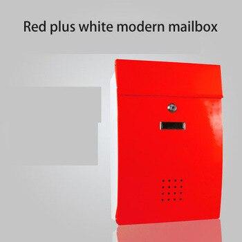 Creativo Europeo Buzón De Correo Villa Al Aire Libre A Prueba De Lluvia Jardín Lata Caja De Informe Hogar Impermeable Pared Postbox