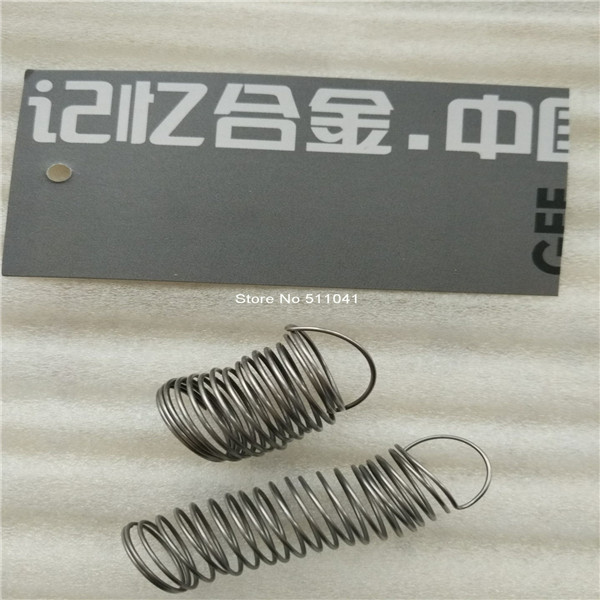 Nitinol Wire Spring ,NiTi SMA Springs 2pcs Samples