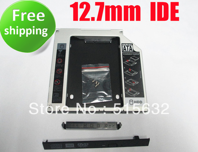 SATA 2nd HDD Caddy for 12.7mm IDE Universal CD/DVD-ROM free shipping
