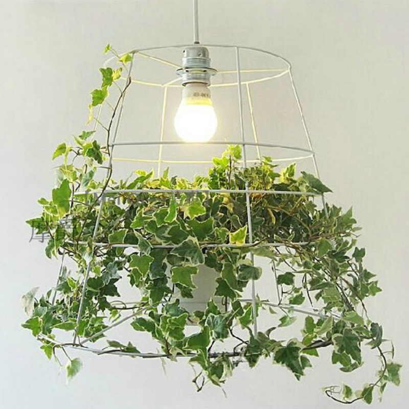 modern  creative green potted plant  Pendant light for bedroom dining room hanging lihgt lamp E27 110-240V gardening tools to plant potted dedicated