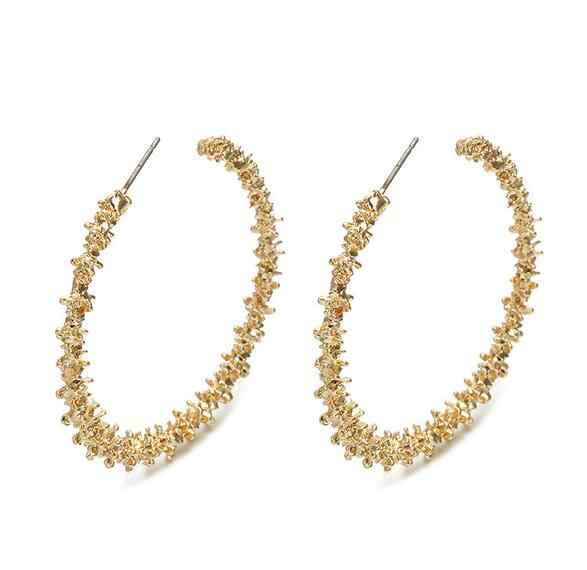 Big Hoop Earrings for Women 2019 Vintage Gold Color Round Fashion Statement Earrings Female Accessories Jewellery