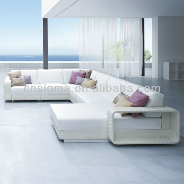 Rattan Outdoor Sofa Places 2014 Modern Balconies White Designer Furniture ...