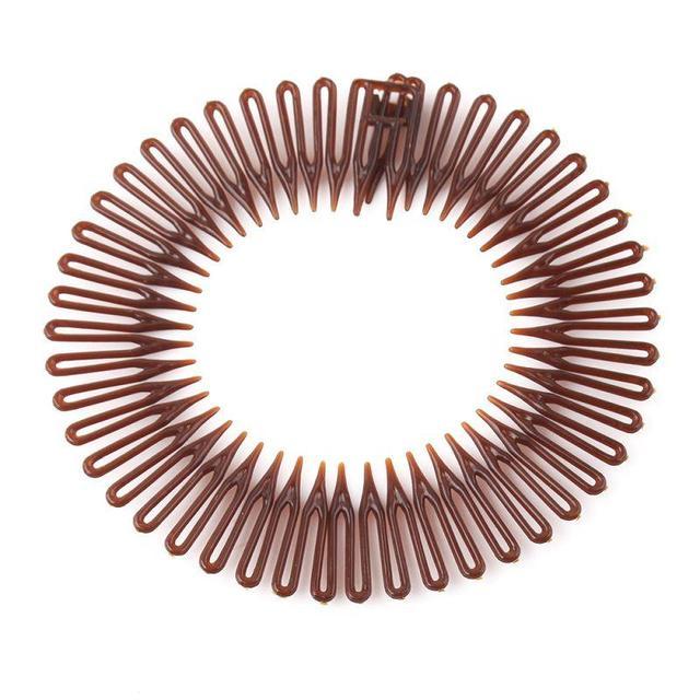 5Pcs Lot Plastic Full Circle Stretch Flexible Comb Teeth New Headband Hair  Band Clip Face Wash Fixed Hair Accessories  40988 a3c3e401090