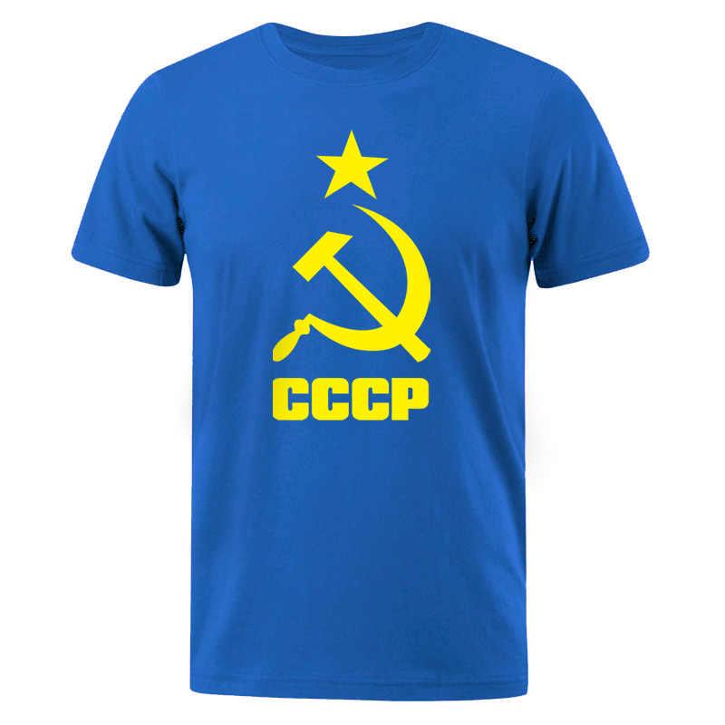 Heren T-Shirt 2019 Zomer CCCP Russische T Shirts Mannen USSR Sovjet-unie Man Korte mouw T-shirt Moskou Heren Tees Katoen O Hals Tops