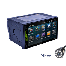2 DIN Car Radio Car MP5 Player GPS Navigation Wifi Android 6.0 Bluetooth Touch Screen Steering-Wheel Optional Rear Camera