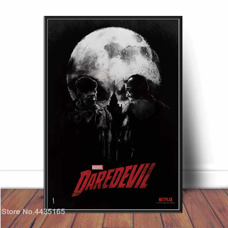 Daredevil Marvel Superhero Poster Charlie Cox Hot TV Series Posters and Prints Canvas Painting Wall Art Picture for Home Decor