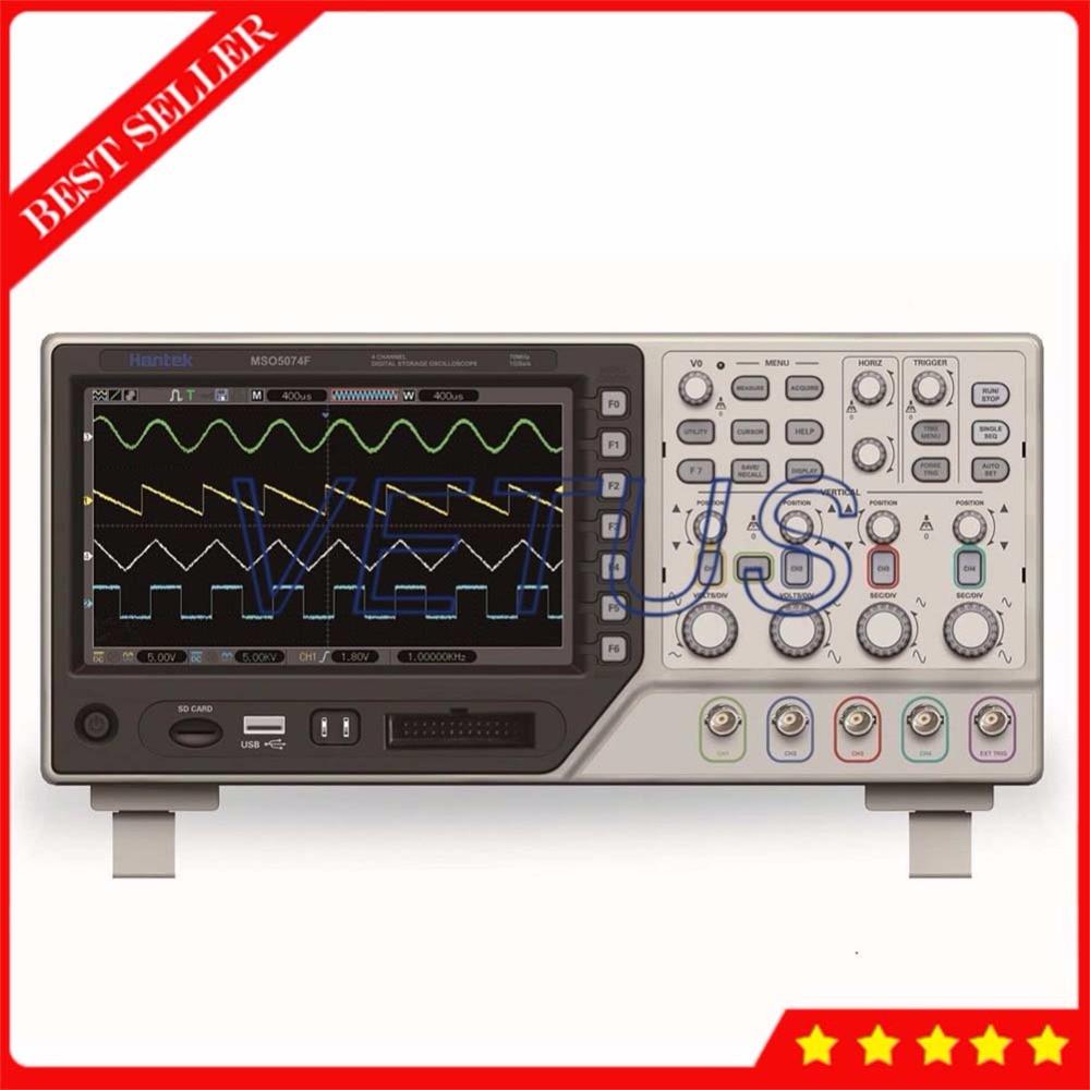 8 CH USB host Logic Analyzer with Hantek MSO5074F 70MHz 1GSa/s digital osciloscopio 4 Channel Oscilloscope Price