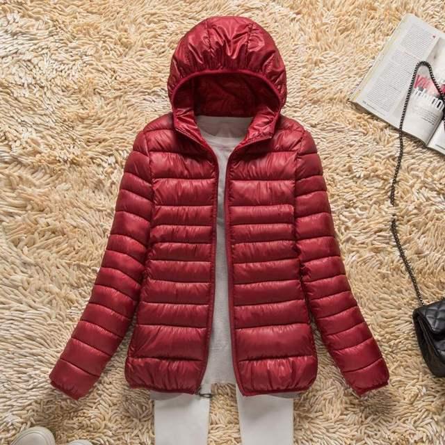 2019 Nova Outono Inverno Ultra Leve Para Baixo Mulheres Jaqueta À Prova de Vento Calor Leve Compactáveis Para Baixo Casaco Plus Size Parkas das Mulheres