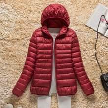 2019 חדש סתיו חורף קל במיוחד למטה מעיל נשים חום Windproof נשים של קל משקל Packable למטה מעיל בתוספת גודל מעיילי