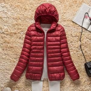 Image 1 - Новинка 2019 года; сезон осень зима; ультра легкий пуховик для женщин; ветрозащитные теплые женские легкие пуховые пальто; большие размеры; парки