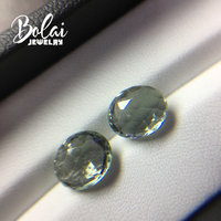 Natural Brazil green amethyst oval 8*10mm 2 piece in one lot 5.5ct special cutting for diy gemstone jewelry