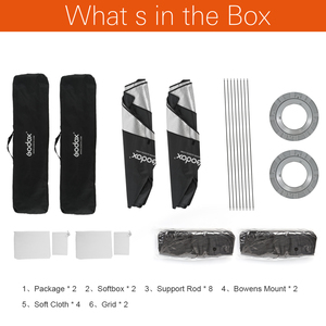 "Image 2 - 2PCS Godox 32""x 47"" 80 x 120cm Honeycomb Grid Softbox soft box with Bowens Mount for Studio Strobe Flash Light AD600BM DE300"