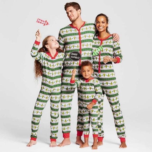 Geschenkideen Familie Weihnachten.Us 13 9 Grün Striped Print Familie Weihnachten Pyjamas Muttertag Geschenk Familie Einteiligen Kleidungsstück Eltern Kind Outfit Af 1869 In Grün