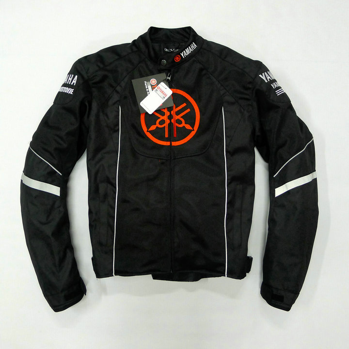 Maille d'été moto rcycle vestes moto Racing Vestes Coupe-Vent pour Yamaha moto r Avec 5 pièces Protecteur Hommes Veste Chaqueta Noir