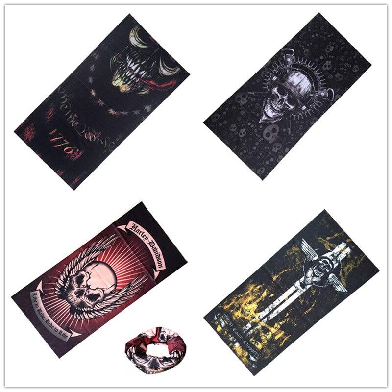 618669fd84e3 Magique Bandeau Chevalier de La Mort Pirate Écharpe Crâne Squelette Fantôme  Chapeaux Bandeau Moto Cou Bandana Visage Masque