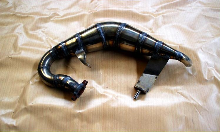 For QL RACING Full handmade Tuned Pipe exhausted pipe for losi 5ive T