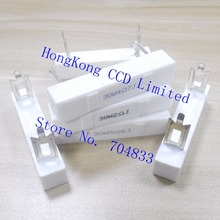 Горизонтальная цементного резистор 30 Вт 5% 2R 2.2R 3R 3.3R 4.7R 5.6R 8R 10R 15R 30R высокочастотное магнитное резистор для цемента