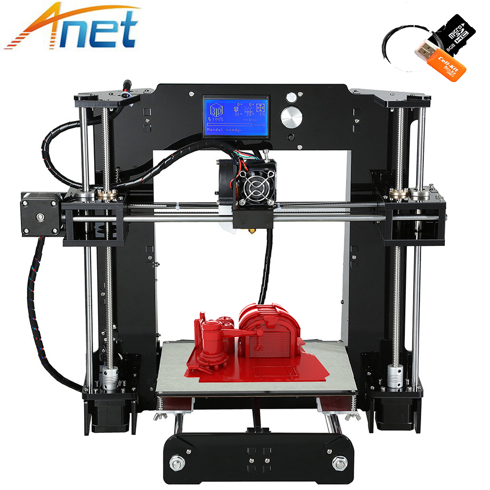 Newest Anet A6 Normal&autolevel 3D Printer Kit DIY Large Printing Size 220*220*250mm Precision Reprap i3 DIY with Filament anet a6 a8 3d printer machine large printing size 220 220 250mm 220 220 240mm reprap i3 diy 3d printer kit with abs pla filament