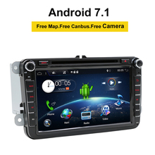 Android 7,1 2 DIN DVD для автомобиля VW JETTA GOLF MK5 MK6 GTI Passat B6 Polo Skoda Fabia gps НАВИГАЦИЯ Radio USB/SD PC карта страны
