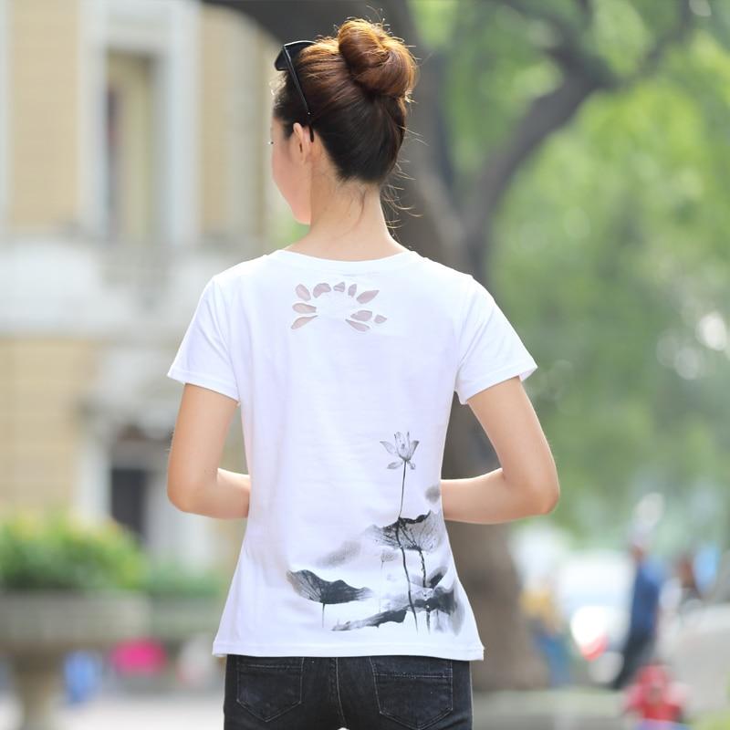 Yay Qadın T-shirt Plus Ölçü Qadın Şirin Çap köynək Əsas - Qadın geyimi - Fotoqrafiya 3