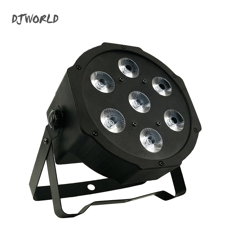 10pcs/lot LED 7x12W 4in1 Color Stage Flat Par Lighting DMX Business Lights High Power Light with Professional for Party Ballroom