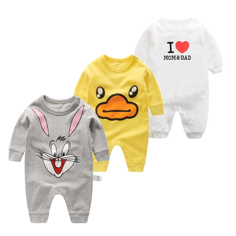2017 kids jumpsuit product spring autumn baby clothing cartoon baby girl rompers 100% cotton BABY boy clothes newborn