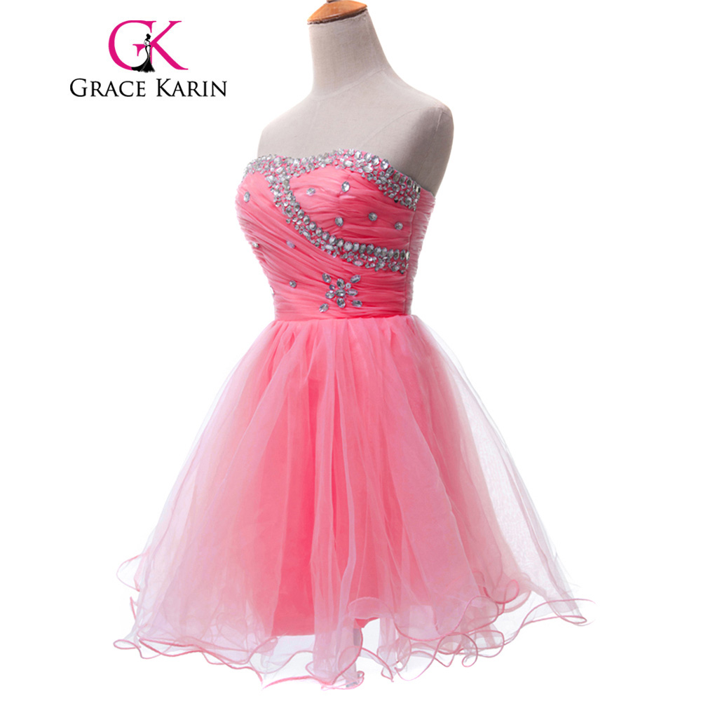 Gracia Karin lindo rosa azul blanco negro corto Vestidos de baile ...