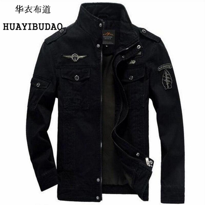 Для Мужчин's Куртки осень и зима Для мужчин куртка-пилот Военная Униформа авиации вышивка большой размер Air Force One Мужская одежда M-6XL