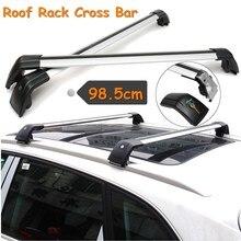 Универсальный автомобильный поднятый рельс крест бар алюминий Багажник на крыше Carrier 98,5 см