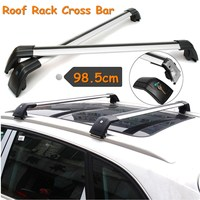 Universal Car Raised Rail Cross Bar Aluminum Roof Rack Luggage Carrier 98.5cm