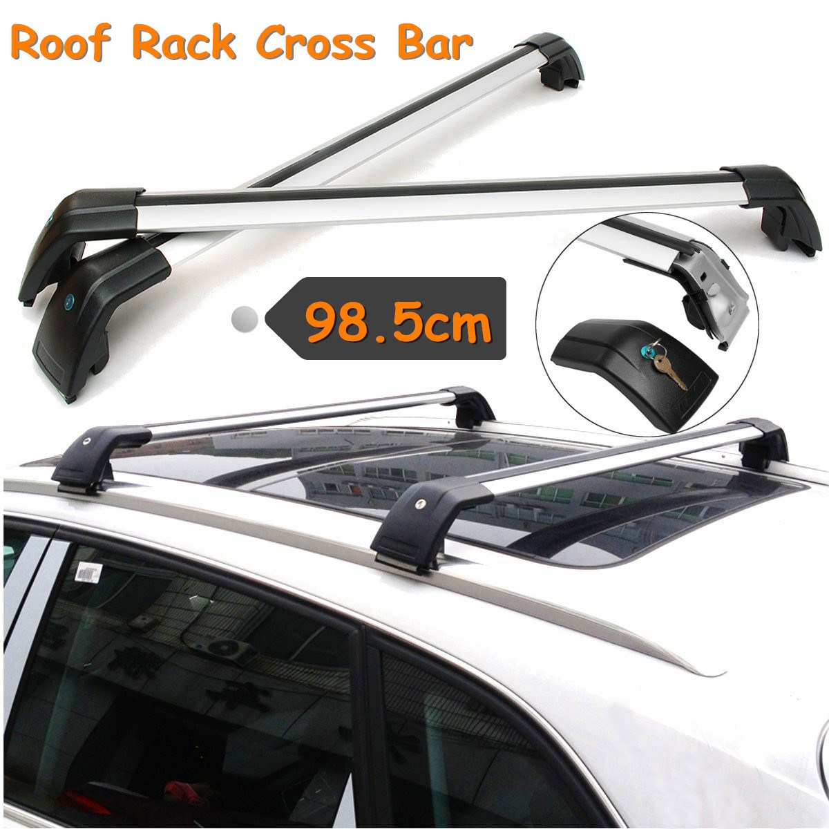For 2009-2017 Dodge Journey Adjustable Top Roof Rack Cross Bar Carrier Luggage